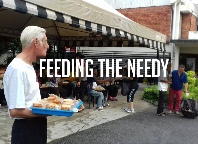 Feeding The Needy, St Mary's Cathedral, Kuala Lumpur